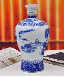 找生产青花陶瓷酒瓶的厂家,3斤装酒瓶批发