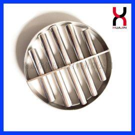 售钕铁硼强磁磁力架,可达12000高斯。7管磁架方形强磁磁力架磁棒