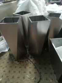 江苏园林花盆加工批发定制不锈钢多边形花盆装饰不锈钢花箱厂家