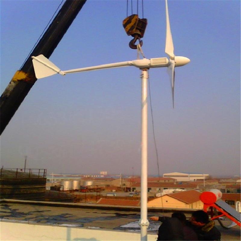 高效鱼民用小型风力发电机2000W 控制系统一键式操作