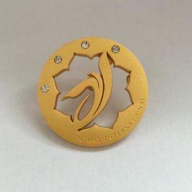 广州会徽定制厂家金属胸章logo设计