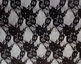 双色黑纱蕾丝面料贾卡蕾丝面料