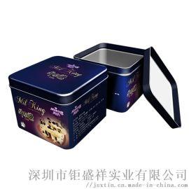 手工牛扎糖方形铁盒包装 台湾牛扎糖金属铁罐