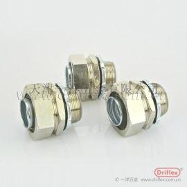 Driflex铜镀镍直接头,铜外丝接头