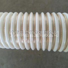 厂家直销PU塑筋增强软管呼吸器呼吸管食品级输送软管