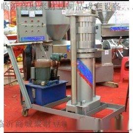 供应瑞金全自动液压芝麻榨油机生产厂家 聚财千斤顶芝麻香油机价格