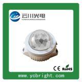 雲川C款新型圓形直徑120貼片3WLED點光源航空鋁折射面罩