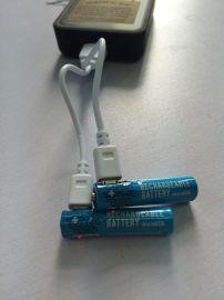 罗马尼亚USB充电电池AAA7号2节套装充电电池