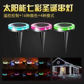 新款太阳能led灯串 户外庭院装饰防水彩灯灯条 圣诞节日装饰灯带
