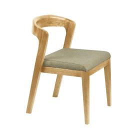北歐餐廳靠背椅咖啡廳創意休閒桌椅實木餐椅半圓椅