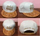 专业订制时尚欧美风格木质皮革平额刺绣休闲帽