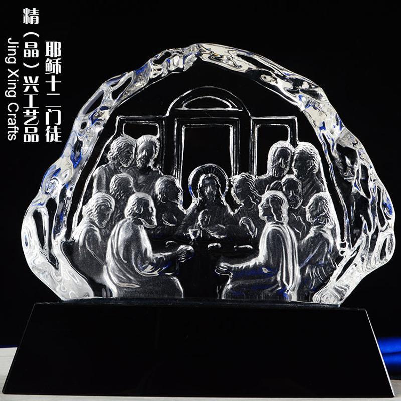 水晶冰山办公摆件摆件,活动集会礼拜纪念礼品定制