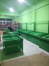 沈阳强力货架厂仓储中型货架超市货架钢木水果货架