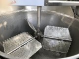 豆泡油炸锅 机械式刮渣行星搅拌油炸锅