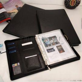 商务多功能立体口袋文件夹带计算器定制logo便签