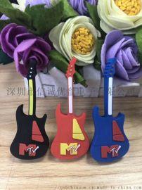 PVC材质吉他造型U盘开模定做创意礼品u盘制定