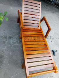 供应菠萝格实木沙滩躺椅