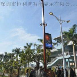 恒利普 P2.94LED灯杆屏 户外智慧广告屏