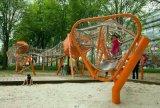 无动力滑梯异型网弯型爬网设备