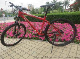 FSDA山地车自行车24速26寸铝合金双碟刹变速减震越野男女式单车