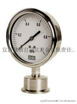 卡箍式隔膜压力表,卫生型隔膜压力表,卡箍型压力表