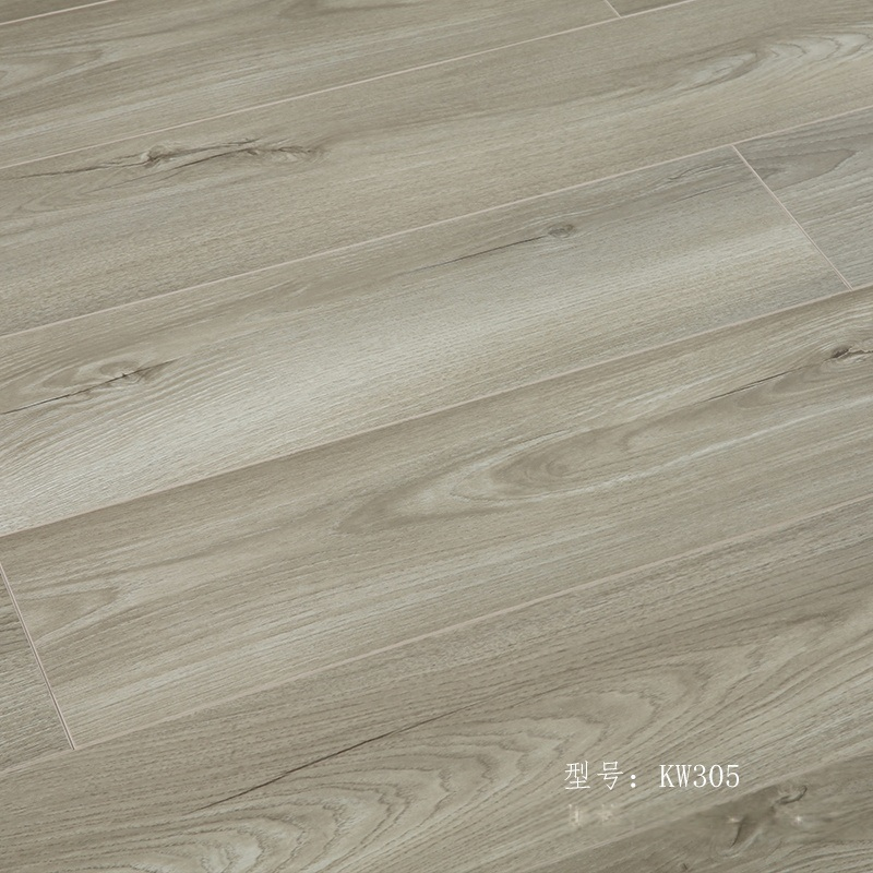 E0级新三层实木复合木地板 灰色原木 多层防水地暖