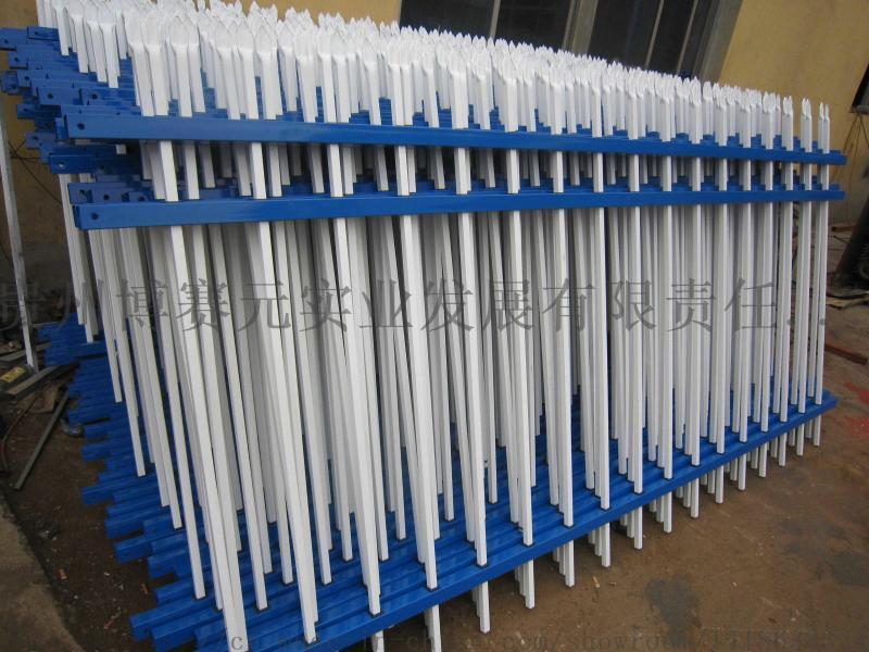 自产自销锌钢护栏,贵阳工厂锌钢栏杆 围墙护栏