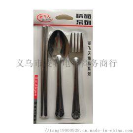 2元百货货源 叉勺筷吸卡套装  2元店
