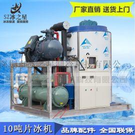 10吨片冰机水产屠宰冷藏保鲜降温大型工业制冰机厂家