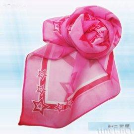 粉色星星絲巾(S-002)
