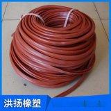 耐高温硅胶密封条 硅胶管 方形硅胶胶条 橡胶条