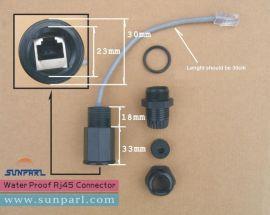 MTS-M20网线防水接头,户外AP防水连接器,LED显示器防水插头