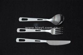 户外野营钛餐具刀叉勺三件套