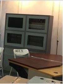 立腾机柜定做4孔电视墙(深浅双灰色)