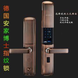 **指纹密码锁智能家用电子防盗门锁智能电子密码锁不锈钢门锁