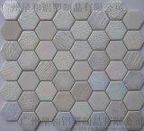 六邊形玻璃馬賽克GY009