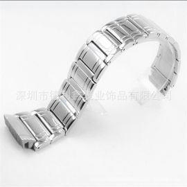德利鑫  DLXZZ  蝴蝶扣表带 男式不锈钢表带  弧形实心钢表带 制造厂