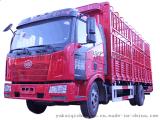 解放9.6米高栏车,13吨仓栏车,青岛栏板车价格