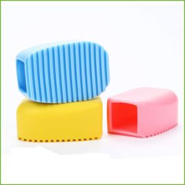 创意手握式糖果色硅胶洗衣刷 家务清洁迷你洗衣板搓衣板 清洁刷