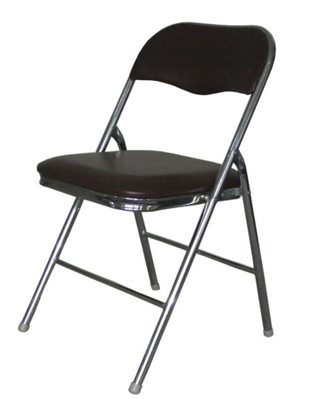 电镀金属折叠椅