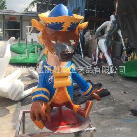 玻璃钢卡通动物小鹿雕塑组合玻璃钢   动物雕塑小棕熊雕塑