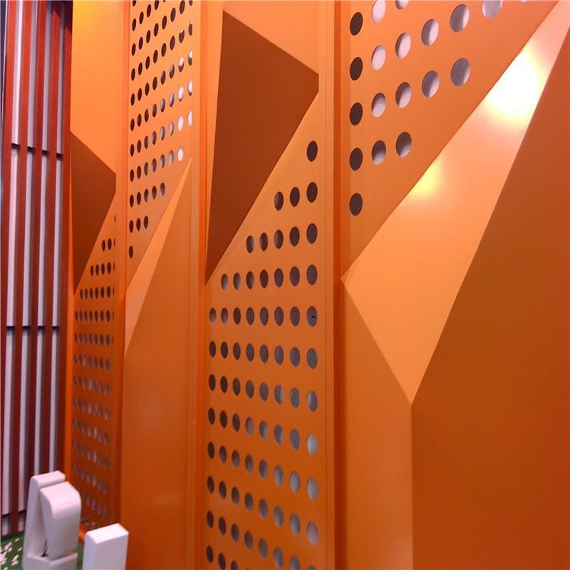 海悦蓝郡冲孔铝单板,售楼部外墙圆弧孔铝板【个性化造型】