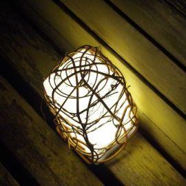 新款LED藤编充电创意方形装饰咖啡厅酒吧KTV家居服务多彩色小夜灯