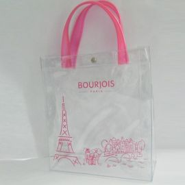 广东厂家 塑料包装薄膜袋 pvc透明手提袋 拉链式PVC袋