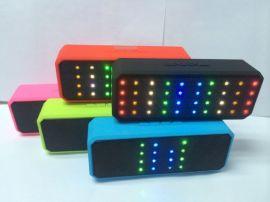 X60无线蓝牙音箱LED彩灯插卡插U盘收音迷你小音响可通话