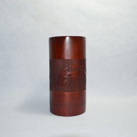 巨匠专业生产定制仿古做旧雕刻毛笔竹笔筒办**化用品工艺礼品