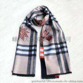 新款雙面滌棉大圍巾披肩