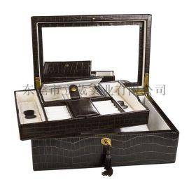 厂家定制高档复古首饰盒手表盒PU皮工艺品包装盒