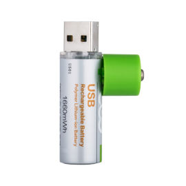 USB充电14500/AA/5号1.5V恒压锂电池