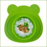 一体式小熊硅胶儿童餐盘 婴幼儿硅胶儿童餐碗